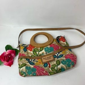 Relic Floral Crossbody Purse w/ Wooden Handles